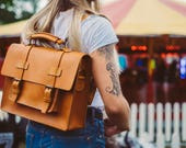 Briefcase Convertible Leather Messenger Messenger Bag Leather Work Bag Unisex Briefcase Backpack Leather Rucksack Leather Laptop Bag