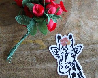 Giraffe Frida Sticker, Giraffe, Frida, Frida Kahlo, Stickers, Vinyl Sticker, Die-cut Sticker