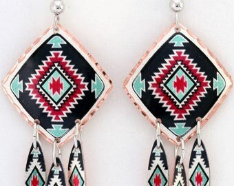Native Dream Catcher Dangle Earrings Indigenous Metis First Nations