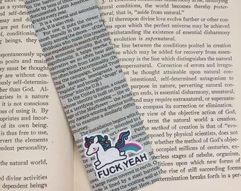 "Newspaper ""Unicorn"" Bookmark"