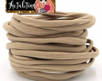 Tan Nylon Headband | One Size Headband | THIN Soft Nylon Headband for baby and adults| Premium Infant & Baby Headbands | BULK
