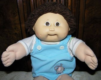 Vintage Cabbage Patch Kid Doll# 5 HM/Brown Shag/Brown Eyes