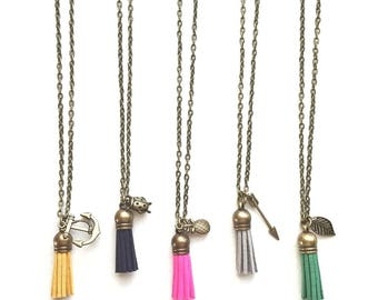Long Women's Tassel Diffuser Necklace, Bronze, Essential Oil Necklace, Aromatherapy Jewelry, Oil Necklace Diffusers Custom Gift