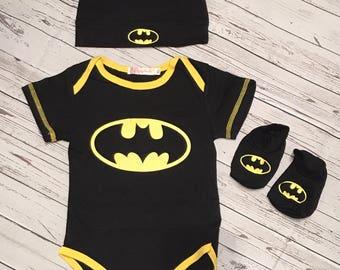 Batman, Batman Baby, Batman Baby Outfit, Batman Newborn, Batman Baby Cap, Batman Baby Onesie, Batman Onesie, Batman Baby Gift, Batman Outfit