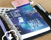 DOWNLOAD Tardis dashboard [A6, A5, Pocket, Personal, Planner Dashboard, Filofax, Louis Vuitton]