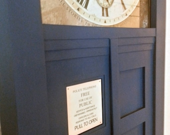 TARDIS Inspired Wall Clock