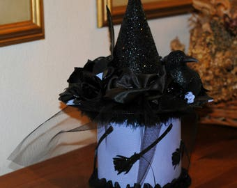 halloween witch hat witch hat decoration fun halloween centerpiece black crow spooky