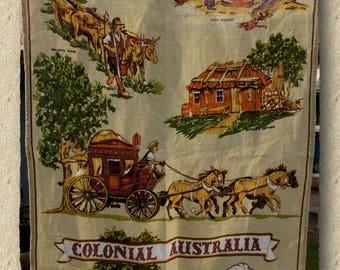 Australia, Victoria, Maldon, Linen Tea Towel, Dish Cloth, Colonial Australia, Outback Australia