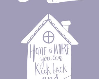New home welcome print. Personalised with first line of address. A4 in Size.