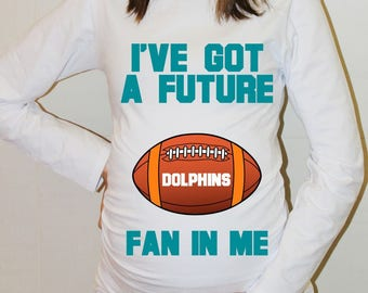 Dolphins Maternity Shirt Miami Dolphins Baby Future Fan Shirt Baby Miami Football Maternity Clothing Pregnancy Shirt Baby Shower
