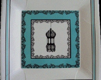 Lantern dessert plate Islamic party stuff Muslim celebration Eid Ramadan Decoration gifts