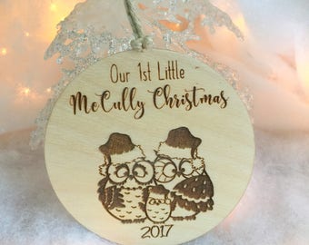 Christmas Ornament, First Christmas, Christmas Gift, Stocking Stuffer, First Christmas Family