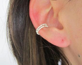 Ear cuff - bague d'oreille minimaliste en argent sterling - wire wrapping
