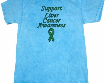 Support Liver Cancer Awareness Mineral Tie Dye Tee T-Shirt SLICA-1300
