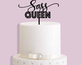 Sass Queen Cake Topper