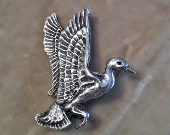 Sterling Silver Duck Pin
