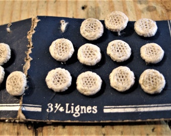 Vintage Thread Buttons, Set of 14, Original Package