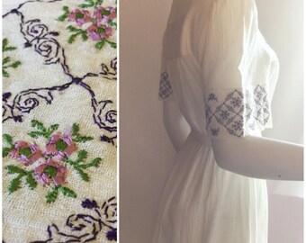 E. Mixaah White Cotton Dress