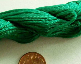 FIL Echeveau 25m nylon tressé 1mm Vert Emeraude DIY création bracelet shamballa
