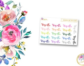COLORFUL DAY OFF Script // Planner Stickers for Erin Condren Life Planner