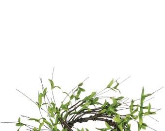 "Twig Foliage Candle Ring, 4.5"" Opening"
