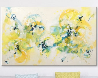 Original Art Abstract painting acrylic on canvas Violet painting abstract wall art Landscape painting Modern art yellow painting