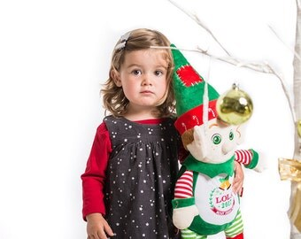 Personalised Christmas Elf,Teddy Bear,Gift,Newborns,Keepsake
