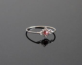 Garnet Ring Vintage - Garnet Ring Gold, Garnet Ring Silver, Garnet Ring, Garnet Jewelry, January Birthstone Ring, Custom Birthstone Ring