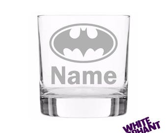 Personalised Batman Whiskey/Highball/Pint Glass