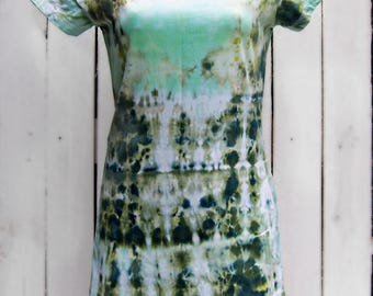 JUNGLE - Tie Dye Summer T-Shirt Dress