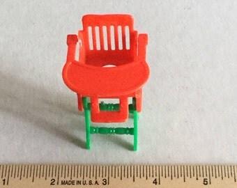 Dollhouse furniture highchair/rocker