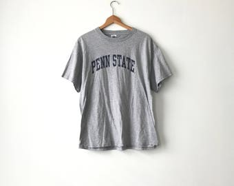 PENN STATE SHIRT // 90s // Adult Large // Gray // Nittany Lions // Penn State T-Shirt // Penn State Shirt // College Shirt // Psu Shirt