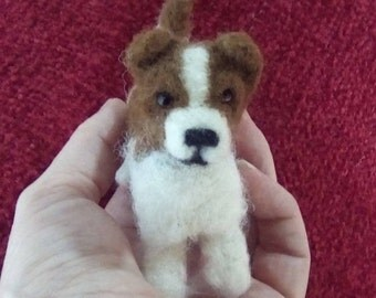 Needle felted Jack Russell terrier minIature