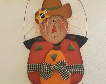 Fall Blessings Hanging Scarecrow