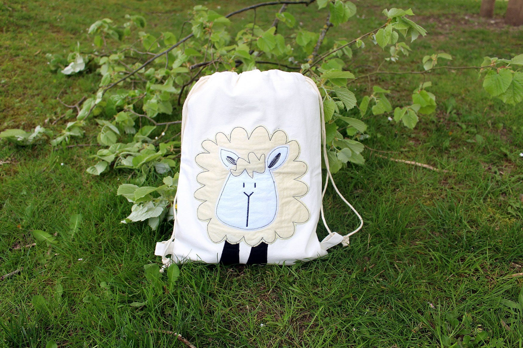Funny Gift For Child Drawstring Backpack Toddler Bag Cotton Draw String Birthday