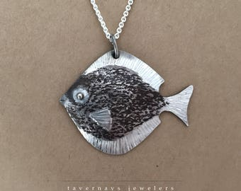 Sterling Silver Tropical Fish Pendant