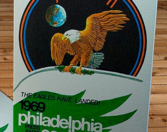1969 Vintage Philadelphia Eagles Football Yearbook - Canvas Gallery Wrap -  12 x 16