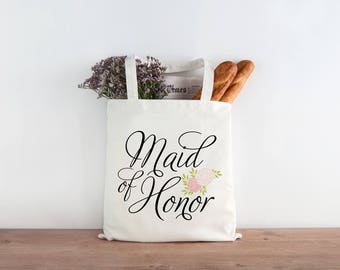 Maid of Honor Gift Bridesmaid Wedding Favor Tote Wedding Welcome Bags t3