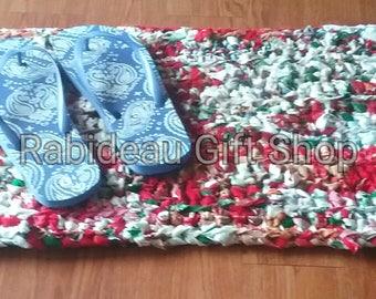 Handmade Crochet Rag Rug, handmade, rug, rag rug, area rug, floor rug, decorative rug, handmade rug, handmade rag rug, crochet rug, upcycled