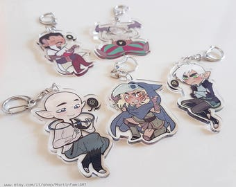 Dragon Age - Transparent Acrylic Keycharms