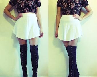 Curved Hem Skater Skirt