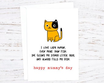 Mother's Day  - Cat  Greetings Card - February - Events - A6 - Cat Lovers