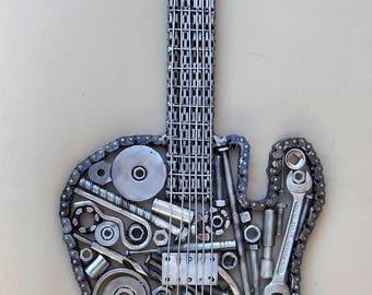 Custom Welded Metal Electric Guitar
