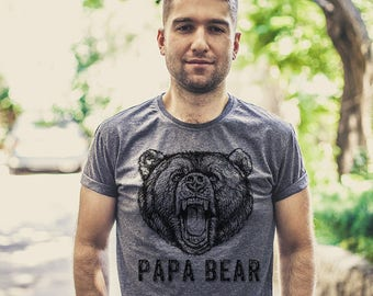 Father gift Papa bear shirt Papa bear t shirt Gift for husband Gift for father Dad to be New dad Father's day gift Fathers gift