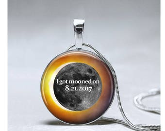 Solar Eclipse Jewelry pendant Total Solar Eclipse 2017 necklace souvenir