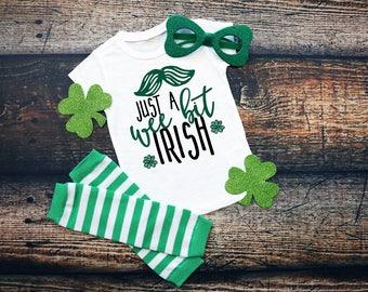 Just A Wee Bit Irish St. Patrick's Day Short Sleeve Tee