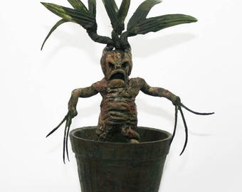 Mandrake handmade with Fimo/polymer clay inspired by Harry Potter