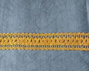 Antique Gold thread trim - 76 centimetres long