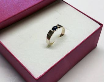 19.2 mm ring Silver 925 crystal blue noble SR867