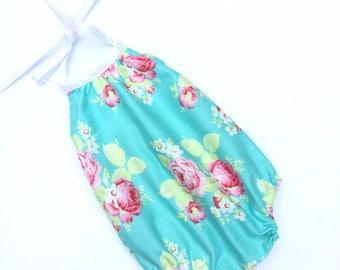 BABY GIRL CLOTHES, Lola Roses Sun Suit Romper, Baby Girl Clothes, Baby Girl playsuit, Floral Baby clothes, Baby Onesie,